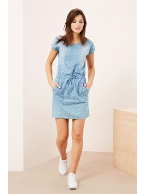 Moodo šaty dámské jeans s krátkým rukávem 7e62f90bcc