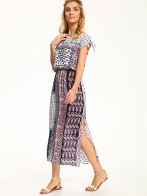 Top Secret šaty dámské dlouhé rožové vzorované poslední kus 35c892c512